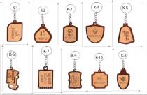 Key Chains Wooden